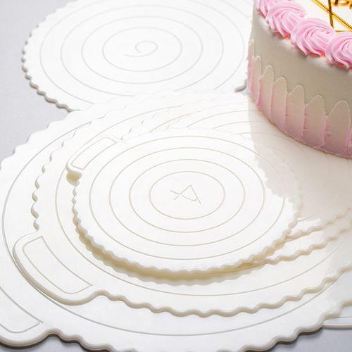 蛋糕底托重复使用装饰垫片慕斯底托塑料6寸8寸家用正