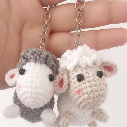 小绵羊时尚可爱挂件diy毛线编织手工玩偶手作打发时间