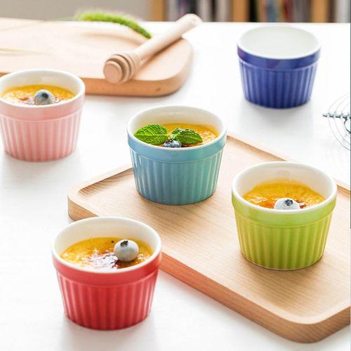 新款促销布丁杯耐高温可烤布丁杯烤箱用烤碗创意布蕾