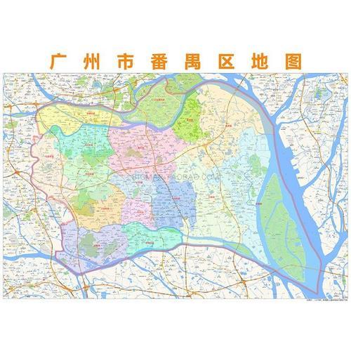 广州市番禺区行政区划地图高清定制2020城市交通办公