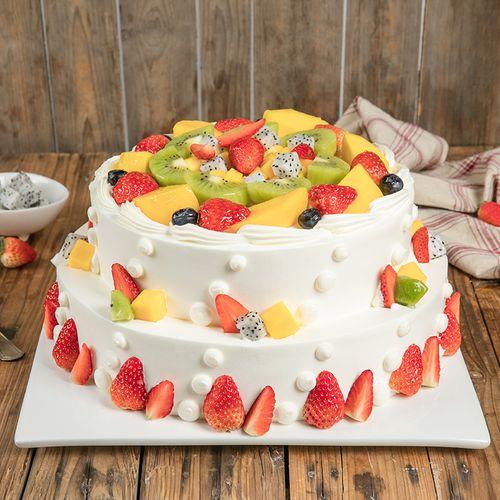 6磅双层蛋糕 浪漫果纷蛋糕(西安)