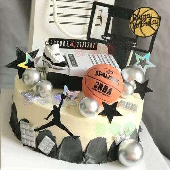 网红篮球生日蛋糕同城nba球星科比库里男士男孩aj球鞋