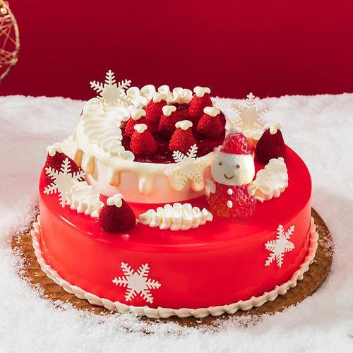 圣诞软心莓莓蛋糕(达州)