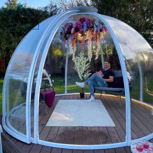 室外露台旋转透明pc星空房天台网红球形玻璃泡泡屋餐厅包厢野露营