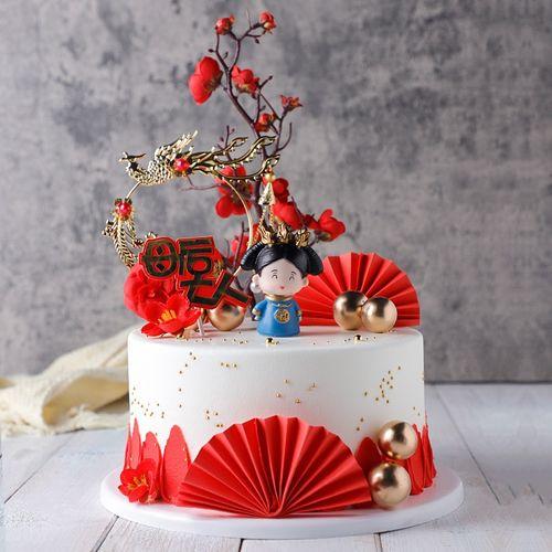 母后皇宫蛋糕模型仿真2021新款网红创意生日假蛋糕样品