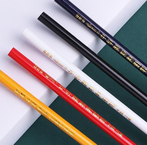 中华白色特种铅笔适用玻璃皮革塑料金属瓷器点位划线
