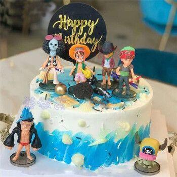 网红海贼王生日蛋糕同城儿童男孩动漫航海王路飞乔巴主题全国上海
