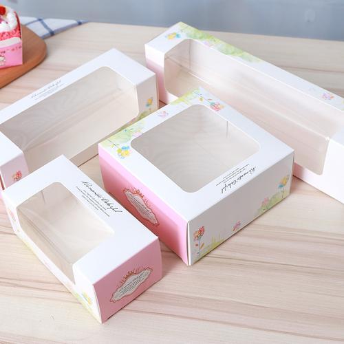 2/3/4/6粒北海道纸盒子戚风蛋糕纸杯盒子开窗西点盒