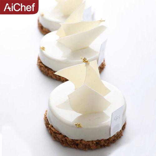 aichef艾可芙法式甜点圆柱形慕斯硅胶模具慕斯蛋糕挞