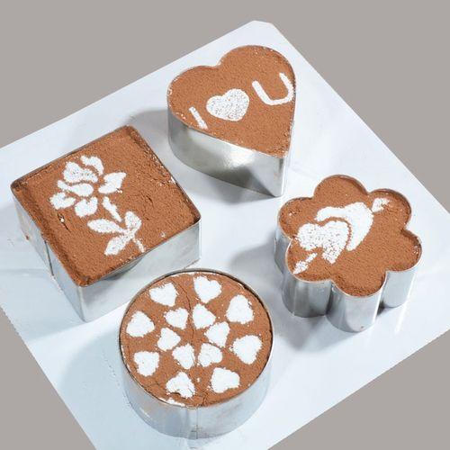 3寸不锈钢慕斯圈带压板 心形烘焙小蛋糕模具饼干切模具 饭团模具