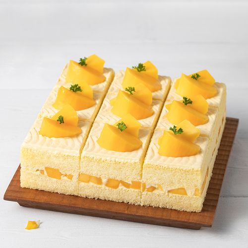 9元】鲜芒丝滑慕斯(共9块),绵密的奶油与香甜的芒果邂逅,适合2-5人