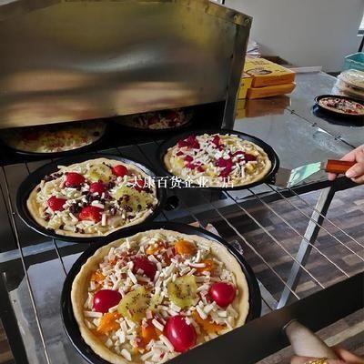 户外摆摊披萨烤箱烘焙机器用燃气炉二盘烘培机制作方便披萨炉三层