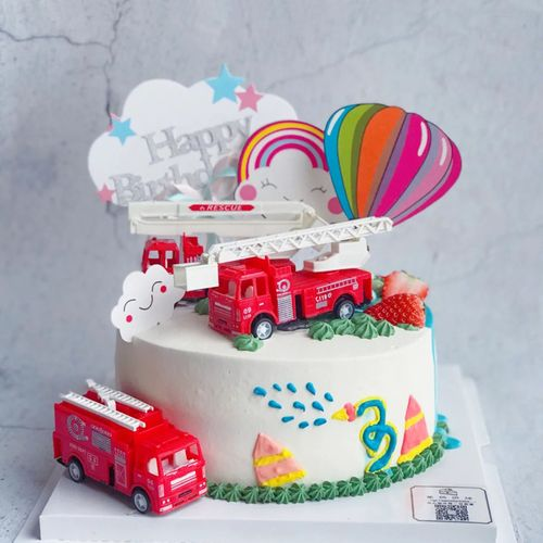 生日蛋糕装饰蛋糕配件件生日消防车小车玩具模型儿童