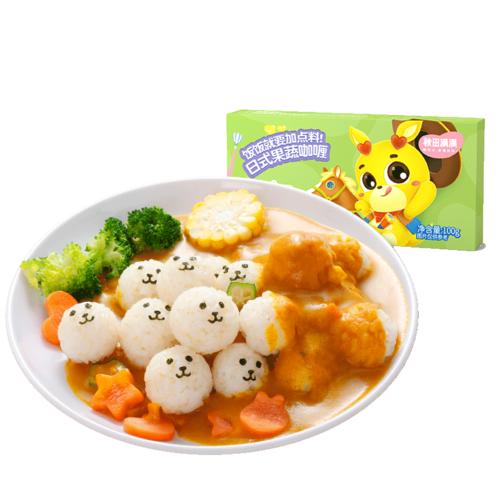 秋田满满儿童咖喱块黄咖喱粉家用搭配宝宝咖喱酱婴儿
