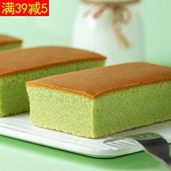 纯蛋糕抹茶味350g网红零食糕点面包整箱小包装健康营养代餐早餐 纯
