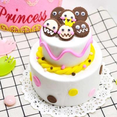 diy蛋糕手工手工粘土.蛋糕泥彩玩具制作创意儿童制作