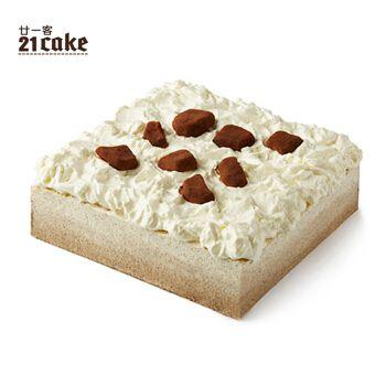 廿一客(21cake)摩卡乳脂奶油咖啡巧克力风味生日蛋糕2