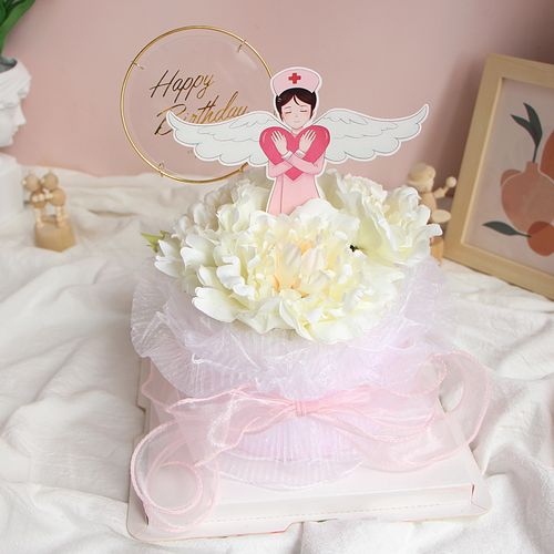 xinbee心贝烘焙 520护士节蛋糕装饰插件 医生白衣天使