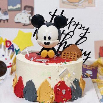 乐惜网红米老鼠生日蛋糕同城米奇米妮唐老鸭蛋糕男孩女孩卡通全国