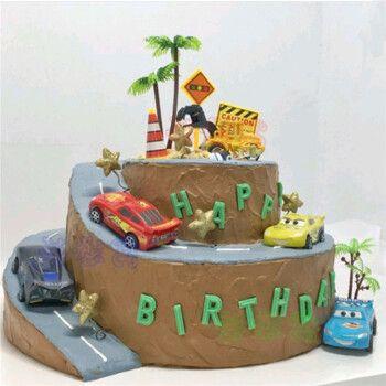 汽车总动员生日蛋糕同城小朋友闪电麦昆赛车蛋糕男孩女孩全国上海