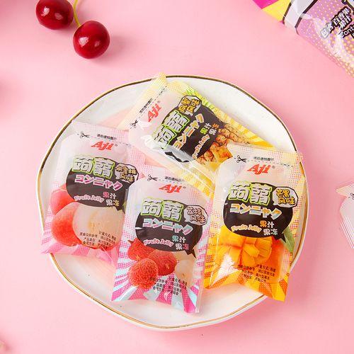 aji蒟蒻果汁果冻260g袋百香果葡萄味休闲小吃接待零食网红布丁
