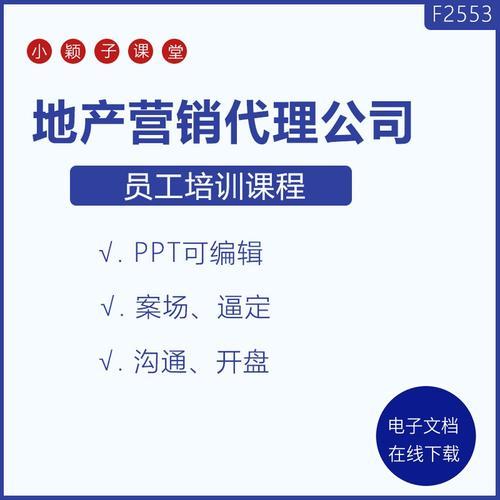 房地产营销代理公司案场储备经理销售管理策划培训课程学习ppt