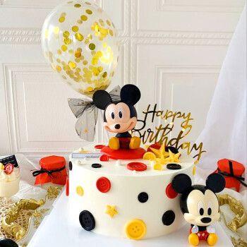 儿童生日蛋糕米奇米妮米老鼠唐老鸭同城配送上海深圳广州武汉重庆