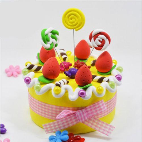 蛋糕泡沫模具超轻粘土配件diy彩泥工具套装手工制作橡皮泥幼儿.