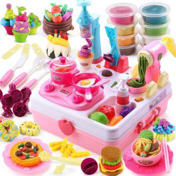 橡皮泥模具彩泥儿童手工diy玩具面条机冰淇淋机蛋糕机