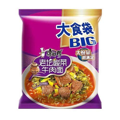 康师傅方便面大食袋big老坛酸菜牛肉面泡面炒面速食
