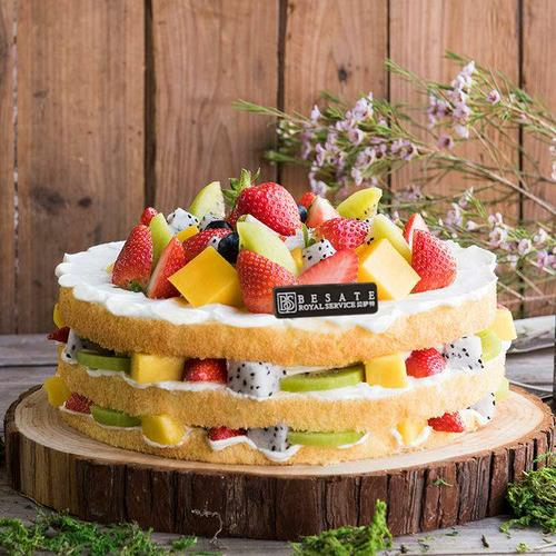 鲜果嘉年华【裸蛋糕+约70%鲜果=低热量 轻食爱好的