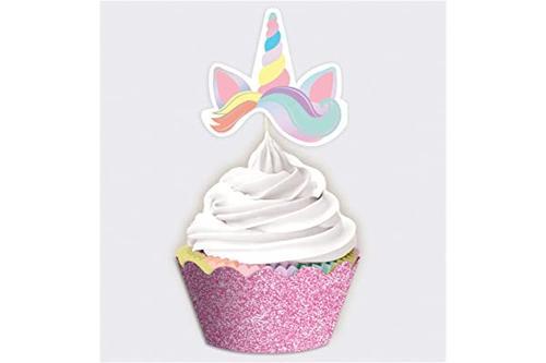 魔法彩虹生日魔法彩虹生日纸杯蛋糕套装