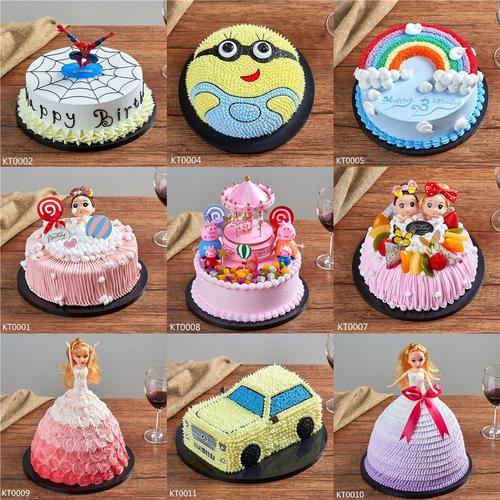 仿真假生日蛋糕网红蛋糕模型卡通蛋糕儿童小汽车蛋糕