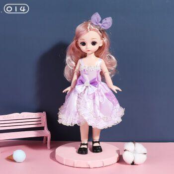 30厘米芭比娃娃小号公主套装23关节3d真眼bjd洋娃娃女孩 玩具生日礼物