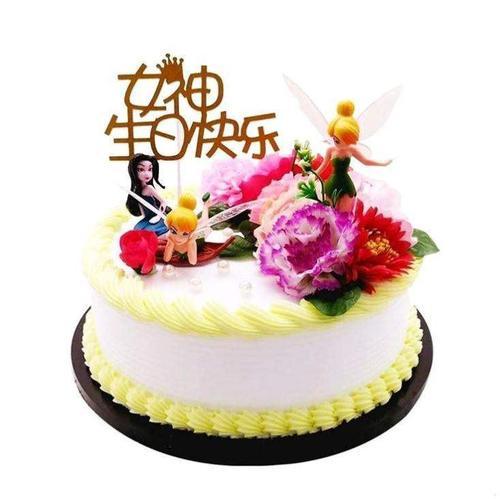 小号花朵花边复古花样耐高温生日蛋糕中号