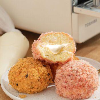 海苔肉松小贝爆浆蛋糕芝士沙拉面包网红甜品零食小吃