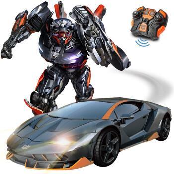【声控变形丨感应变形】变形金刚玩具6擎天柱大黄蜂遥控汽车模型声光