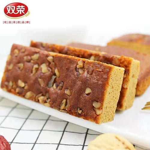 双荣早餐红枣核桃蛋糕枣夹核桃网红休闲办公零食枣泥