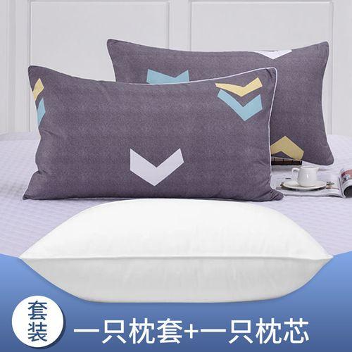 枕头单人学生宿舍床简约男枕头芯带枕套女孩可爱卡通家用一对拍2 动感