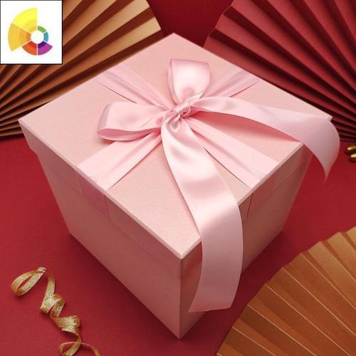 红色礼物包装盒空礼品盒精美节圣诞礼盒大号正