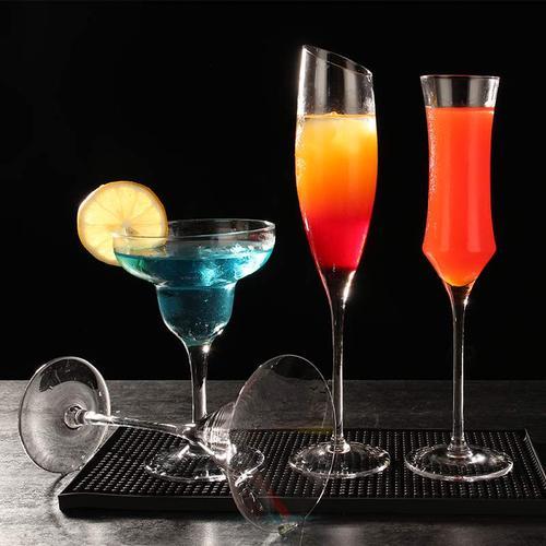 玻璃鸡尾酒杯 玛格丽特鸡尾酒杯子 马天尼杯三角杯香槟杯气泡酒杯