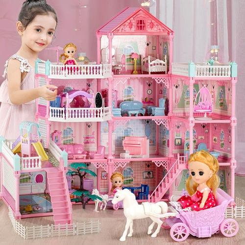 芭比娃娃的房子小别墅家具便宜组合儿童玩具女孩10岁