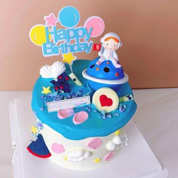 乐惜网红宇航员生日蛋糕同城航天飞机火箭蛋糕儿童全国上海广州