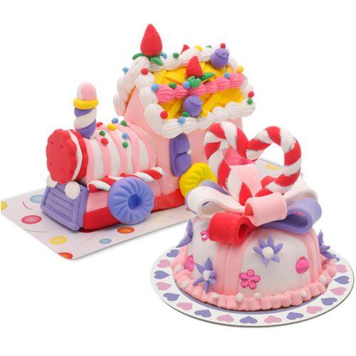 卡乐淘超轻粘土蛋糕套装diy手工粘土食玩黏土彩泥橡皮