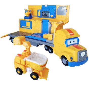 奥迪双钻超级飞侠第4季新品变形玩具卡尔叔叔救援车厢
