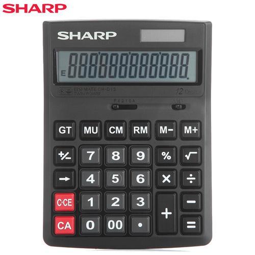 夏普(sharp)ch-d12计算器 中号计算机 商务计算器 办公计算器 财务