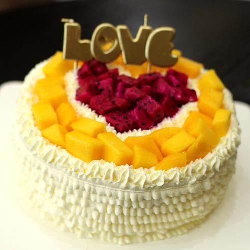 心心相印水果奶油蛋糕