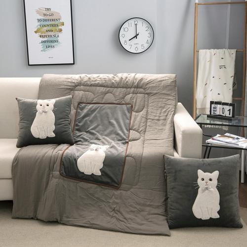 抱枕被子两用靠垫被沙发办公室午休靠枕头舒适汽车腰枕床头靠背