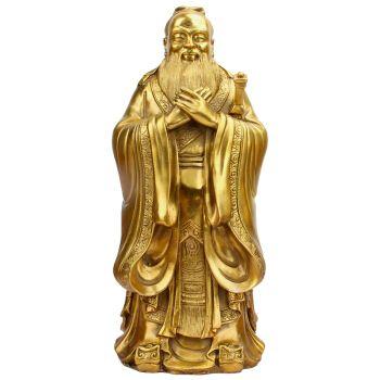 臻礼 铜孔子雕像摆件孔子佛像孔夫子像孔圣人家居工艺