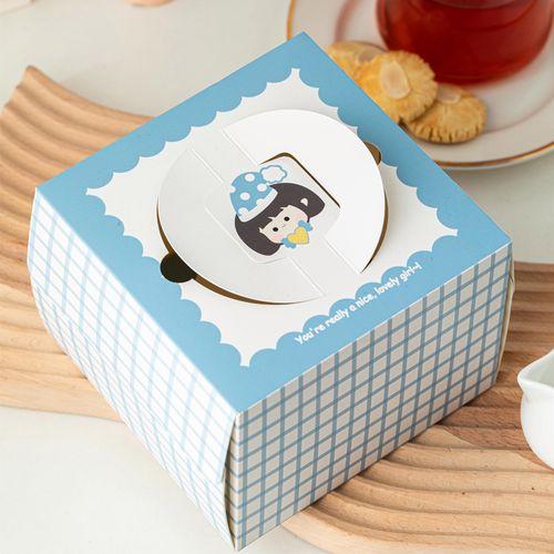 蛋糕盒 4寸蛋糕包装盒烘焙包装生日蛋糕盒子卡通造型